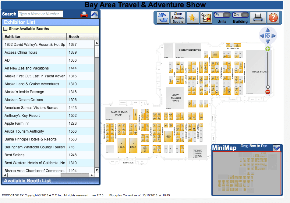 SF Travel Show Floor Plan - Travel Shows